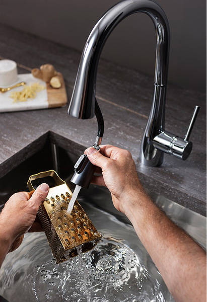 Additional image for Cook Single Lever Kitchen Tap With Flexi Spray.