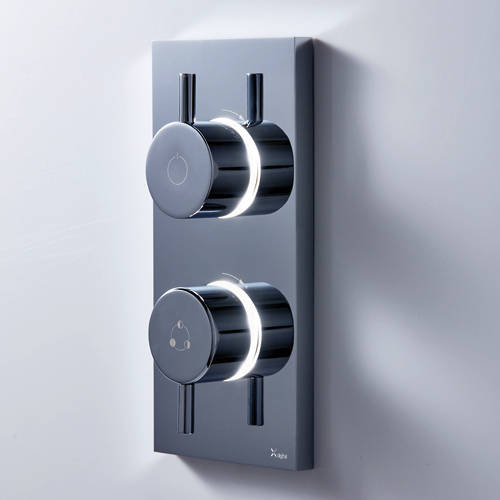 Additional image for Dual Digital Shower, Head & Rail Kit (LP)