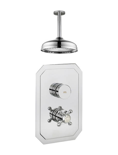 Additional image for Belgravia Thermostatic Shower Valve With Head & Arm (1 Outlet).