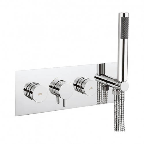 Additional image for Kai Thermostatic Shower Valve, Handset & Hose (2 Outlets).