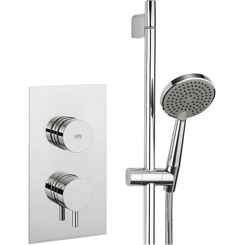 Additional image for Kai Thermostatic Shower Valve & Slide Rail Kit (1 Outlet).