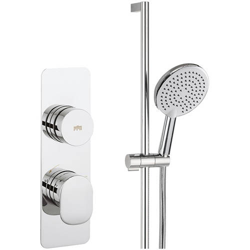 Additional image for Thermostatic Shower Valve With Slide Rail Kit (1 Outlet).