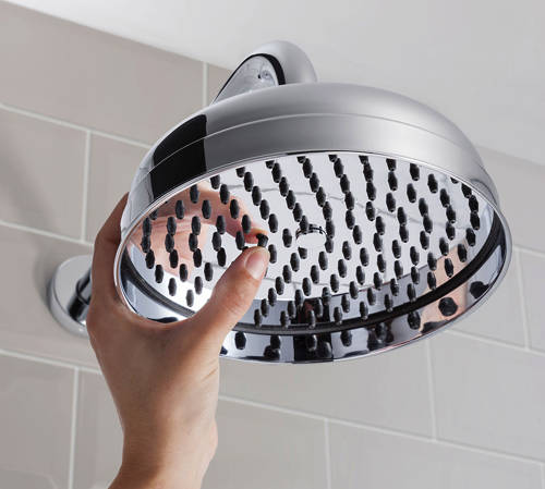 Additional image for Round Shower Head & Arm 200mm (Chrome).