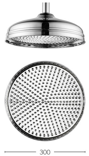 Additional image for 300mm Round Shower Head (Chrome).