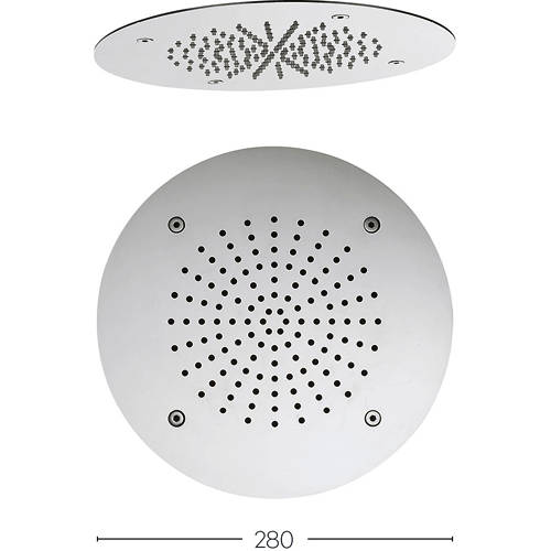 Additional image for Recessed Round Shower Head (280mm).