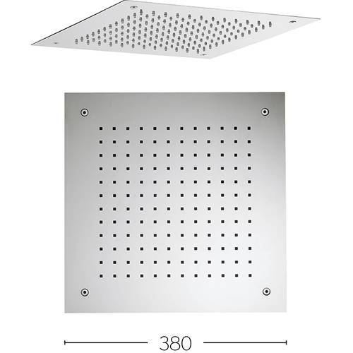 Additional image for Recessed Square Shower Head (380x380mm).