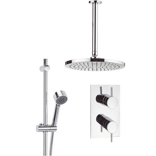 Additional image for Thermostatic Shower Valve, 250mm Head, Rail & Arm.