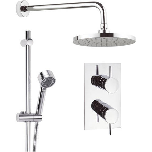 Additional image for Thermostatic Shower Valve, 200mm Head, Rail & Arm.