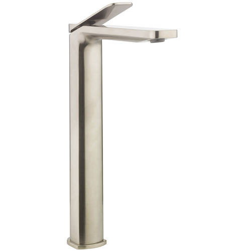 Additional image for Tall Basin Mixer Tap (Brushed Stainless Steel Effect).