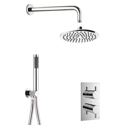 Additional image for 2 Outlet 2 Handle Shower Bundle (Chrome).