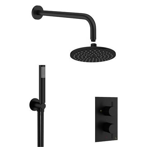 Additional image for 2 Outlet 2 Handle Shower Bundle (Matt Black).