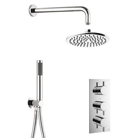 Additional image for 2 Outlet 3 Handle Shower Bundle (Chrome).