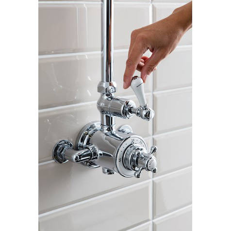 Additional image for Thermostatic 1 Outlet Shower Kit (Nickel).