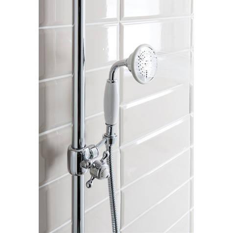 Additional image for Thermostatic 2 Outlet Slider Shower Kit (Nickel).