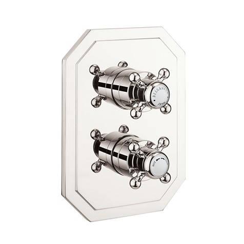 Additional image for Crossbox 3 Outlet Shower Valve (Nickel).