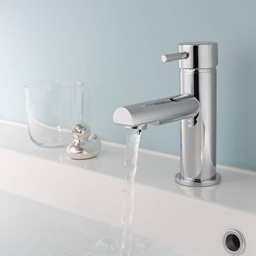 Additional image for Basin Mixer & Thermostatic Floor Standing BSM Tap Pack.