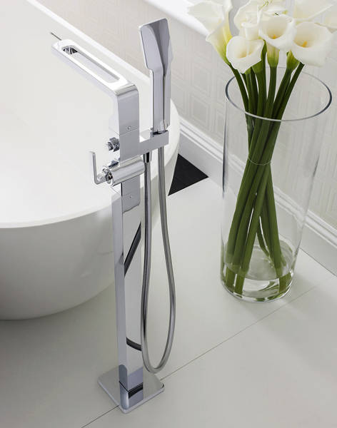 Additional image for Floorstanding Bath Shower Mixer Tap With Shower Kit.
