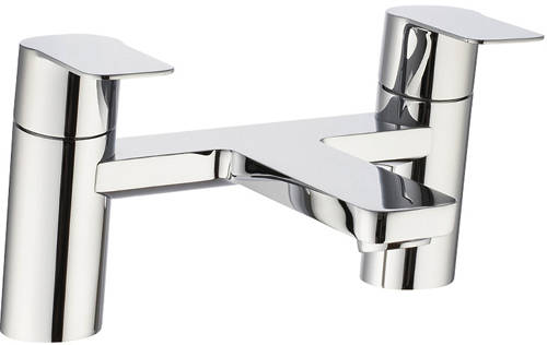 Additional image for Bath Filler Tap With Lever Handles (Chrome).