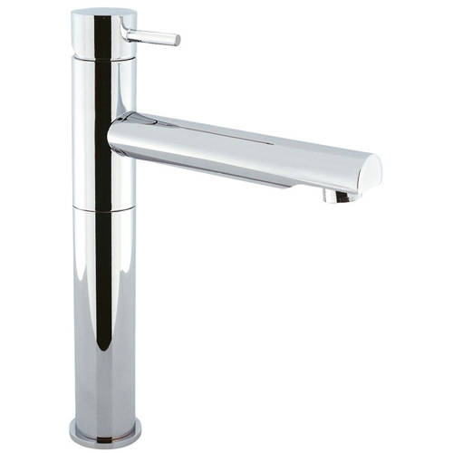 Additional image for Tall Basin Mixer Tap With Swivel Spout (Chrome).