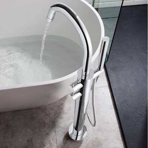 Additional image for Thermostatic Floor Standing Bath Shower Mixer Tap.