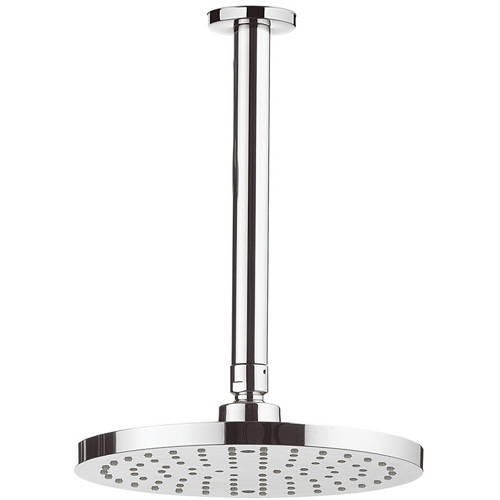 Additional image for Round Shower Head & Ceiling Arm (200mm).