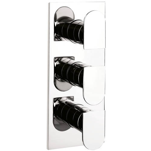 Additional image for Thermostatic Shower Valve (2 Outlets, Chrome)).