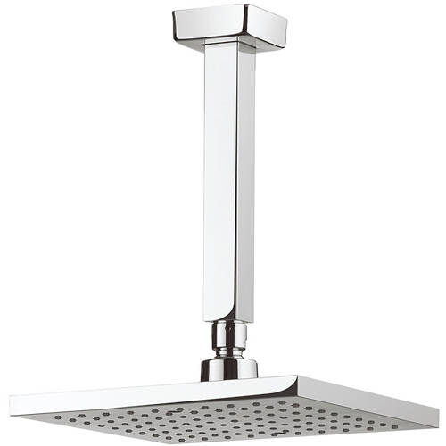 Additional image for Square Shower Head & Ceiling Arm (200x200mm).