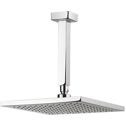 Additional image for Square Shower Head & Ceiling Arm (250x250mm).