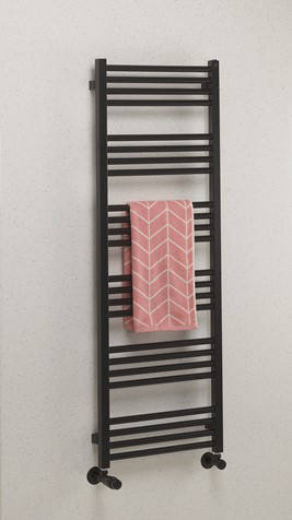 Additional image for Heated Towel Radiator 480x1380mm (M Black).