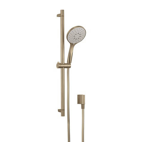 Additional image for Slide Rail Shower Kit (Brushed Brass).