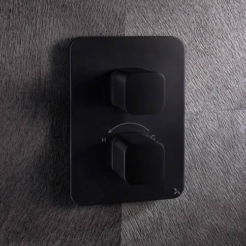 Additional image for Crossbox 1 Outlet Shower Valve (Matt Black).