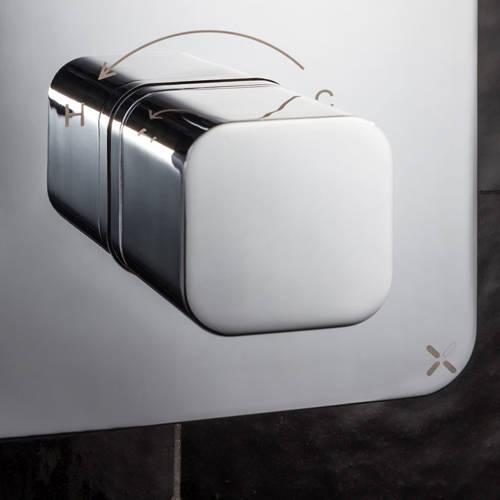 Additional image for Crossbox 3 Outlet Shower / Bath Valve (Chrome).