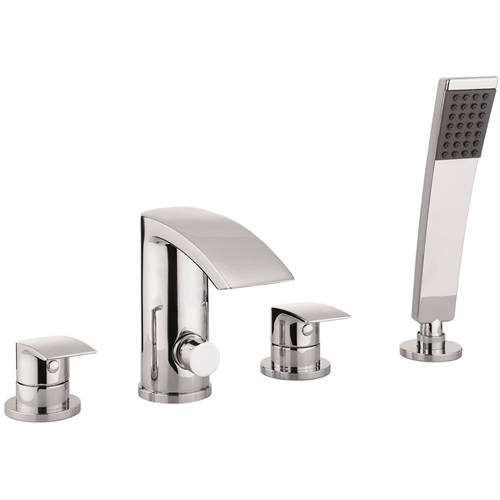 Additional image for 4 Hole Bath Shower Mixer Tap With Kit (Chrome).
