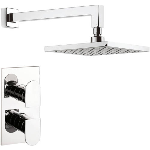Additional image for Thermostatic Shower Valve, 200mm Square Head & Arm.