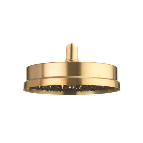 "Additional image for Easy Clean Shower Head 8"" (Unlacquered Brass)."