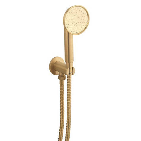Additional image for Wall Outlet, Handset & Hose (Unlacquered Brass).
