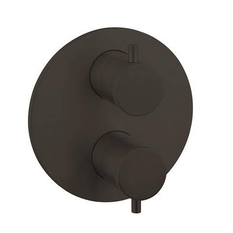 Additional image for Crossbox 1 Outlet Shower Valve (Carbon Black).