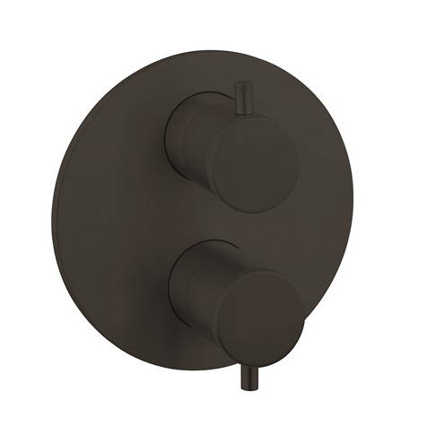 Additional image for Crossbox 2 Outlet Shower Valve (Carbon Black).