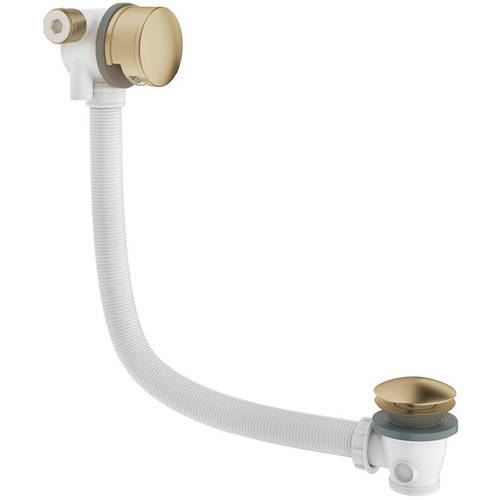 Additional image for Bath Filler Waste With Overflow (Brushed Brass).