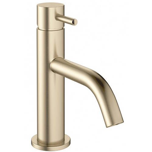 Additional image for Basin Mixer Tap With Lever Handle (Brushed Brass).