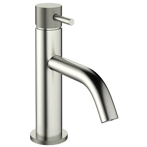 Additional image for Basin Mixer Tap With Knurled Handle (S Steel).