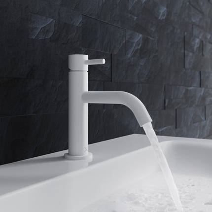 Additional image for Basin Mixer Tap With Lever Handle (Matt White).