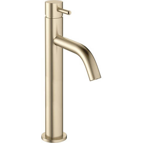 Additional image for Tall Basin Mixer Tap With Lever Handle (Brushed Brass).