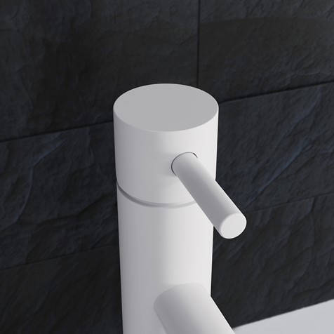Additional image for Tall Basin Mixer Tap With Lever Handle (Matt White).