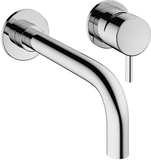 Additional image for Wall Mounted Basin Mixer Tap (2 Hole, Chrome).