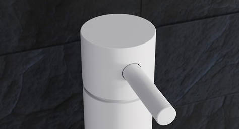 Additional image for Wall Mounted Basin Mixer Tap (3 Hole, Matt White).