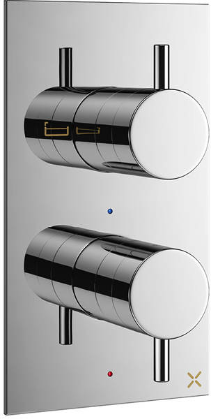Additional image for Thermostatic Shower Valve (2 Way Diverter, Chrome).