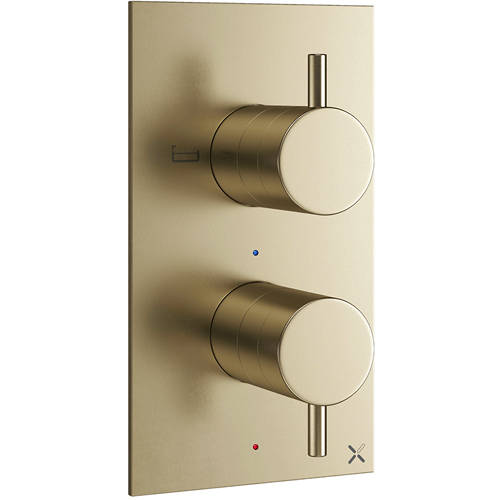 Additional image for Thermostatic Shower Valve (2 Way Diverter, B Brass).