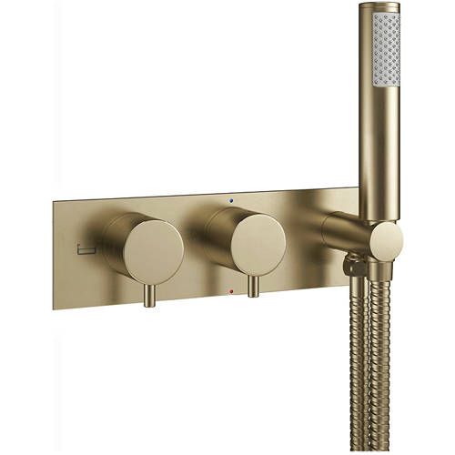 Additional image for Thermostatic Shower Valve With Handset (B Brass).
