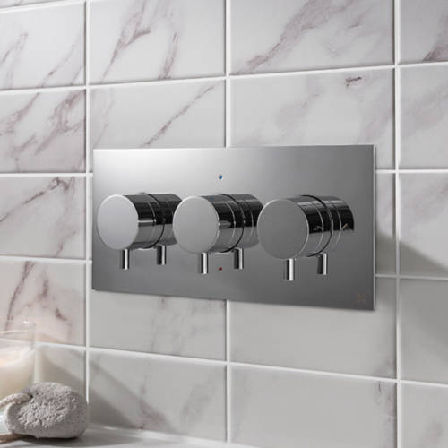 Additional image for Thermostatic Shower Valve With 2 Outlets (S Steel).